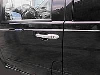 Накладки на ручки (нерж) 4 шт, OmsaLine - Італійська нержавійка для Mercedes Viano (2004-2015), фото 1
