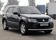 Suzuki Grand Vitara Боковые пороги Allmond Black