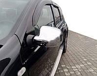Накладки на дзеркала (2 шт) OmsaLine - Італійська нержавійка для Renault Logan II (2008-2013), фото 1