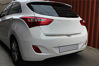 Hyundai I30 2012 Кромка багажника (HB, нерж)