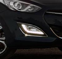 Hyundai I30 2012 Накладки на противотуманки