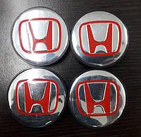Honda Pilot Колпачки в титановые диски 55 мм V1 черные 3D