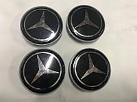 Mercedes Колпачки в обычные диски 65 мм V4 черные под стеклом