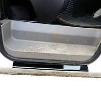 Renault Logan MCV Накладки на пороги из пластика глянцевые