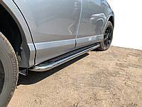 Боковые пороги Maydos V2 (2 шт., алюминий -2021 нерж) для Toyota Rav 4 2006-2013 гг., фото 1