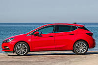 Opel Astra K Окантовка стекол верх и низ