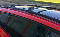 Fiat Marea 1999-2021 гг. Перемычки на рейлинги без ключа (2 шт) Черный