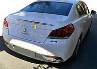 Верхняя хром планка (нерж) для Peugeot 508 2010-2018 гг.