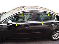 Полная окантовка стекол (Sedan, нерж) для Peugeot 508 2010-2018 гг.