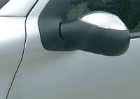 Накладки на зеркала (2 шт, нерж) OmsaLine - Итальянская нержавейка для Peugeot 1007