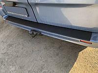 Nissan Primastar Накладка на задний бампер с загибом (ABS-пластик)
