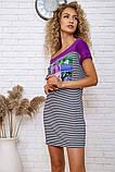 Сукня 167R210 колір Фіолетово-чорний, фото 4