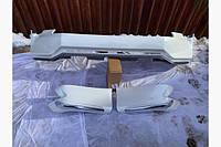 Toyota Prado 150 Накладки на передній і задній бампер Jaos V1 (2017-) в білому кольорі