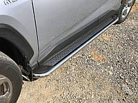 Toyota Rav 4 2019-2021 Боковые пороги Maydos V2 (2 шт., алюминий -2021 нерж)