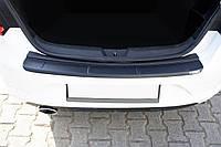 Накладка на задний бампер EuroCap (Sedan, ABS) для Renault Megane IV 2016↗ гг.