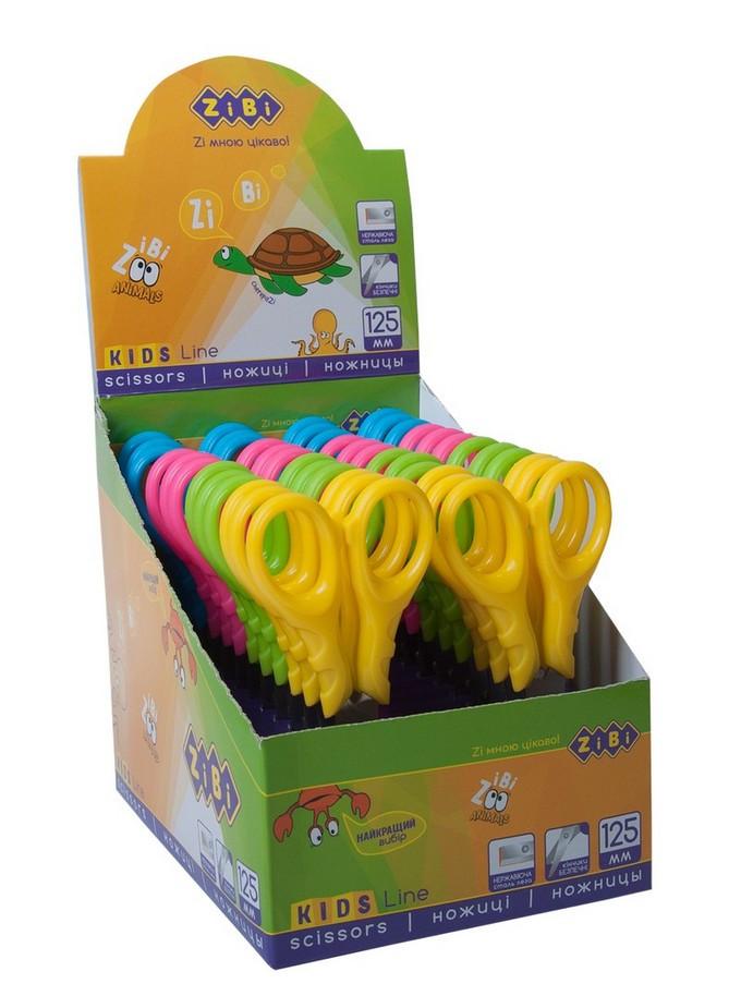 Ножиці дитячі ZiBi Fantasy 12,5 cм  в картонному дисплеї, кольори асорті