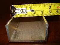 Швеллер алюминиевый 40х20х2 мм, фото 1