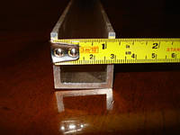 Швеллер алюминиевый 100х50х5мм анод, фото 1