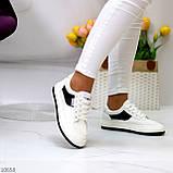 Люксові чорно - білі жіночі кросівки, кеди на шнурівці а асортименті, фото 3