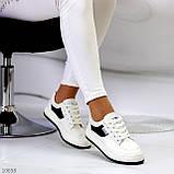 Люксові чорно - білі жіночі кросівки, кеди на шнурівці а асортименті, фото 5