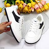 Люксові чорно - білі жіночі кросівки, кеди на шнурівці а асортименті, фото 9