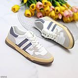 Люксовые комбинированные женские кроссовки кеды на шнуровке 36-23 37-23,5 38-24 см, фото 3