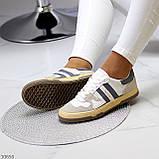Люксовые комбинированные женские кроссовки кеды на шнуровке 36-23 37-23,5 38-24 см, фото 7