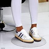 Люксовые комбинированные женские кроссовки кеды на шнуровке 36-23 37-23,5 38-24 см, фото 8