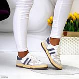 Люксовые комбинированные женские кроссовки кеды на шнуровке 36-23 37-23,5 38-24 см, фото 9