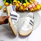 Люксовые комбинированные женские кроссовки кеды на шнуровке 36-23 37-23,5 38-24 см, фото 10