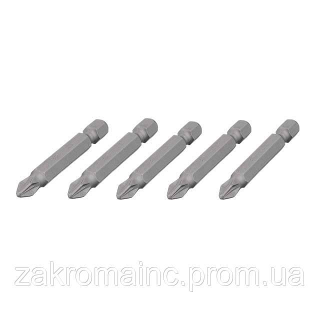 """Комплект отверточних насадок PZ2 1/4""""*50мм, ACR, S2, уп. 5шт., STORM INTERTOOL VT-0204"""