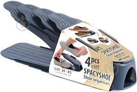 Подставка для обуви двойная подставка для обуви органайзер для обуви пластик 38-45 4 шт. антрацит