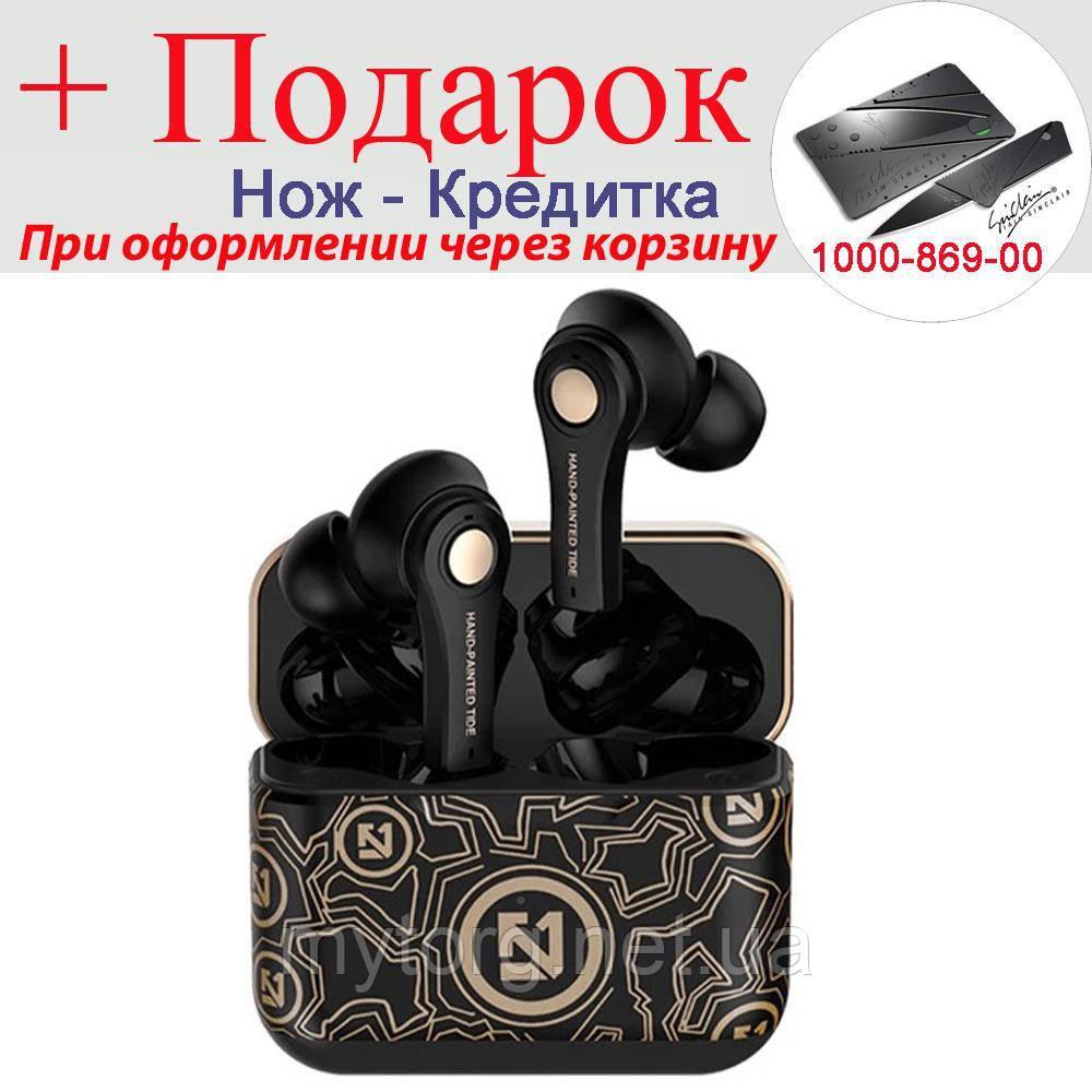 Гарнітура TWS TS 100 Bluetooth 5.0 9D Hi-Fi Чорний