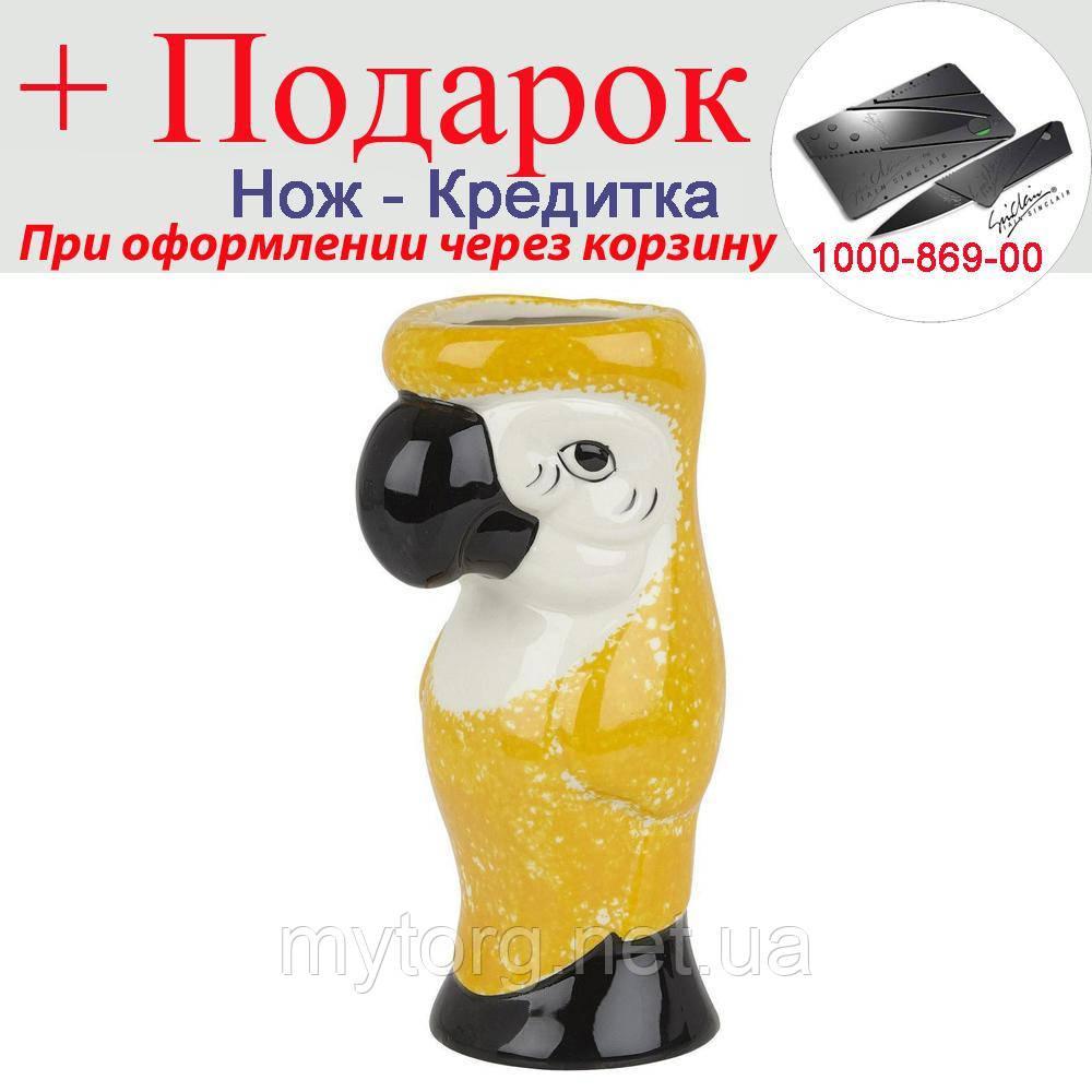 Кружка попугай тики 600 мл.  Желтый