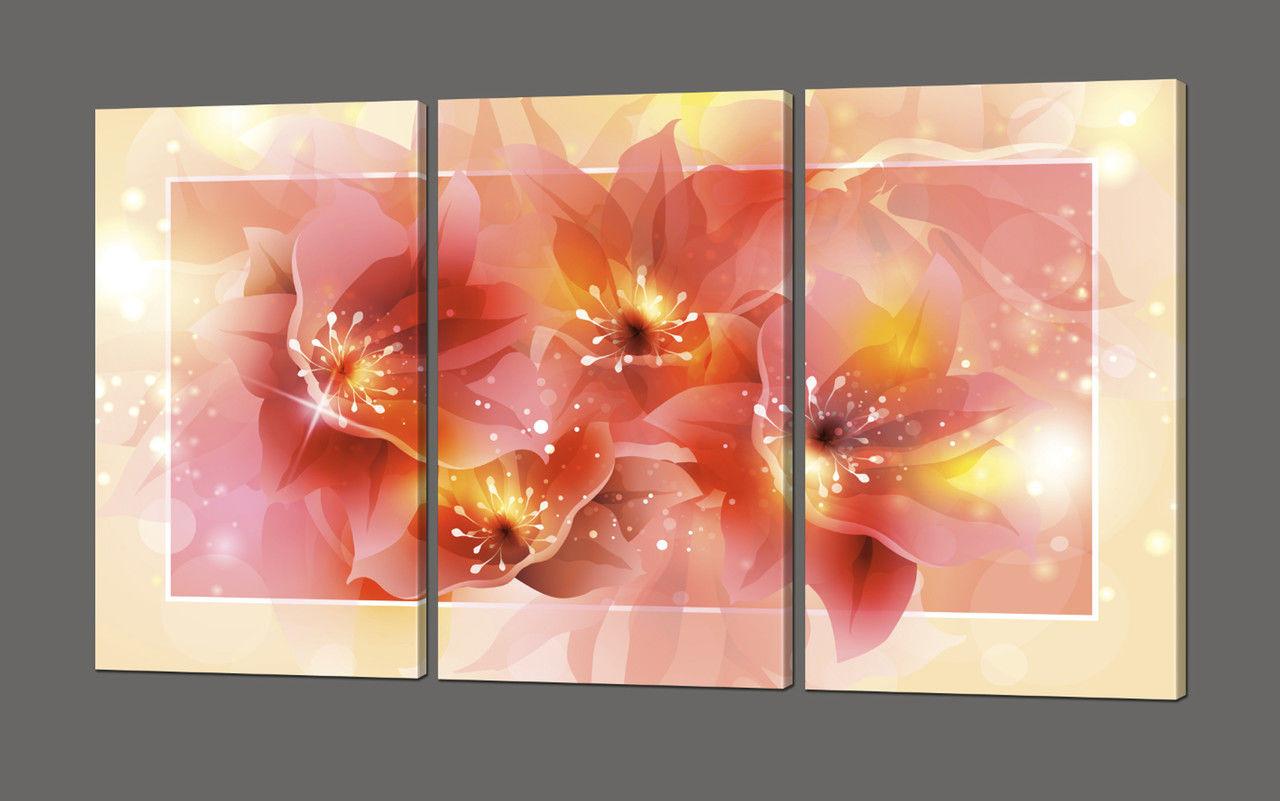 Модульная картина Нежные цветы 120*70 см Код: 620.3к.120