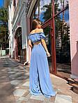 Жіночий костюм, американський креп, р-р 42-44; 46-48 (джинс), фото 2