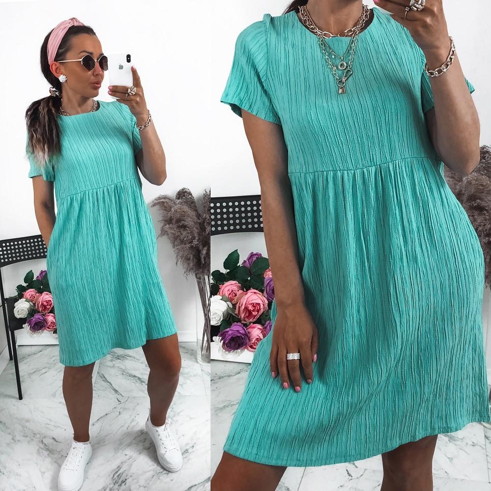 """Жіноче плаття, жатка """"Luxury"""", р-р 42-44; 46-48; 50-52 (бірюзовий)"""
