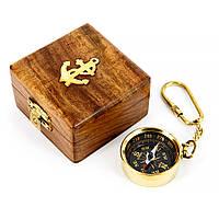 Брелок с компасом в шкатулке