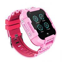 Детские Умные Смарт Часы Baby Smart Watch Df39Z Original С Видеозвонком 4G Розовые