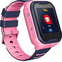 Детские Умные Смарт Часы c GPS Baby Smart Watch A36E Original С 4G и Видеозвонком Сине-Розовые
