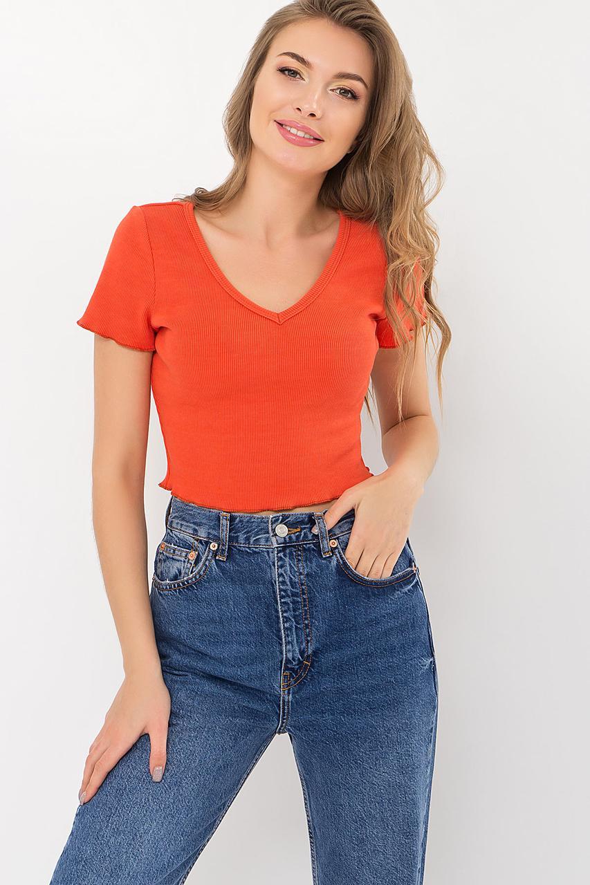 Коралловая молодежная футболка
