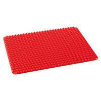 Коврик силиконовый, противень, форма для выпечки Пирамида 39x27см, 7мм