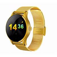 Умные Смарт Часы Smart Watch Supero K88H Original С Пульсометром Золотые