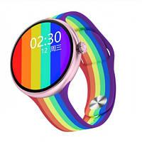 Умные Смарт Часы Supero Smart Watch Up9 С Тонометром Радуга