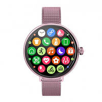 Умные Смарт Часы Supero Smart Watch Up9 С Тонометром Розовые Сталь