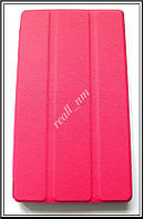 Розовый чехол-книжка TF Case для планшета Lenovo Tab 2 A7-20 / A7-20F эко кожа PU