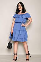 """Сукня жіноча полубатальное з воланом, розміри 46-60 (4кол) """"LADA"""" купити недорого від прямого постачальника"""