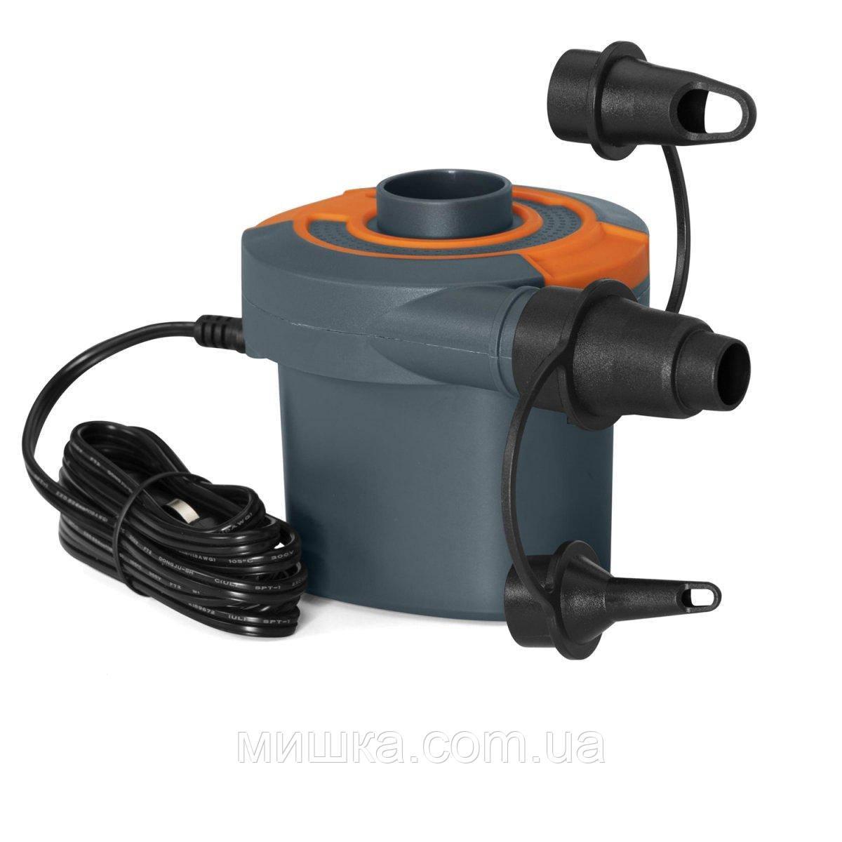 Електричний насос 62142 для надувних виробів, від прикурювача 12В і від мережі 220V, 490 л/хв