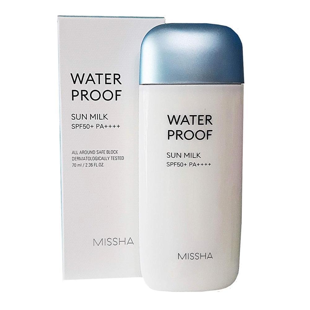 Водостійке сонцезахисний молочко для особи Missha All-Around Safe Block Water Proof Sun Milk SPF50 + PA ++++