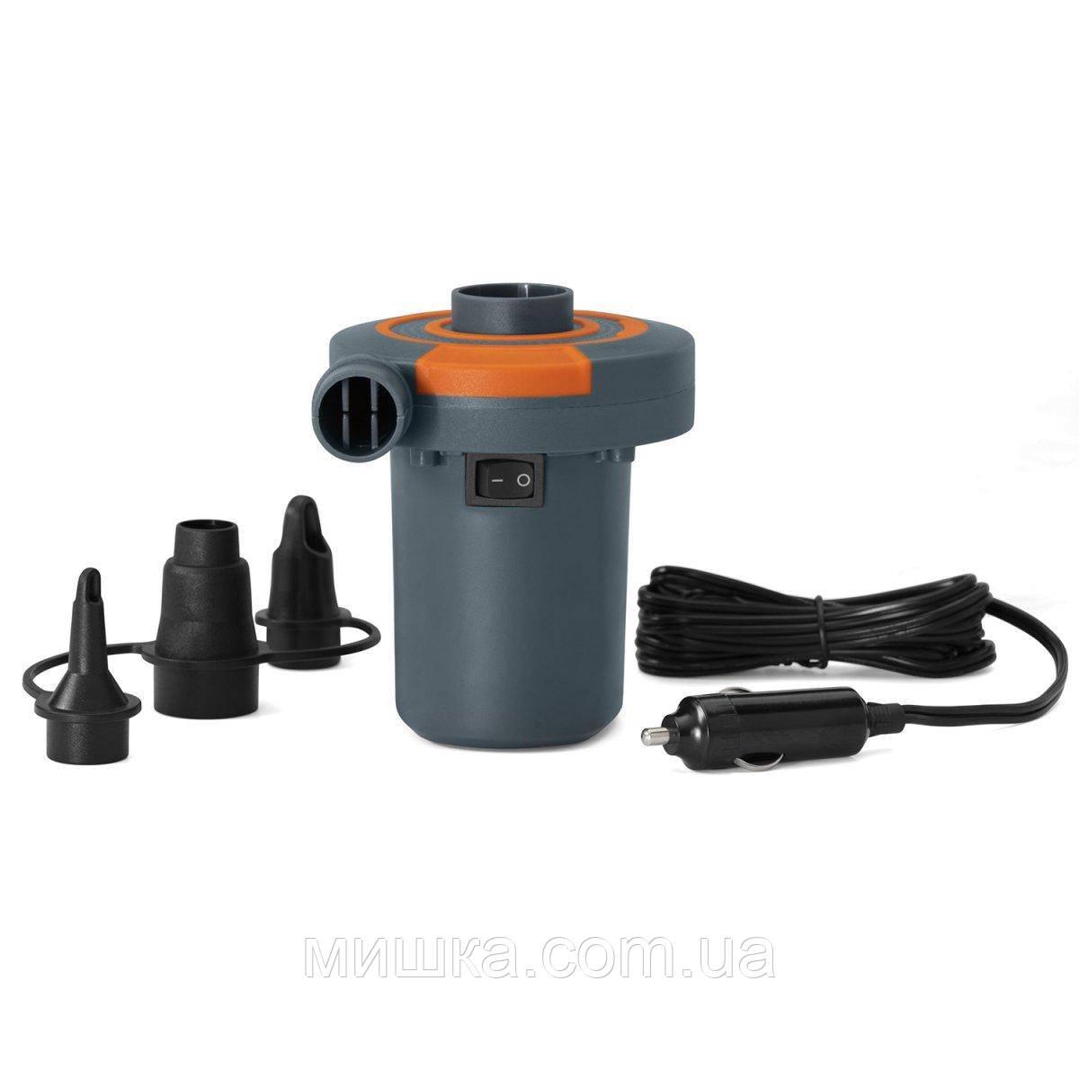 Электрический насос 62144 для надувных изделий, от прикуривателя 12V, 3 насадки, 680 л/мин